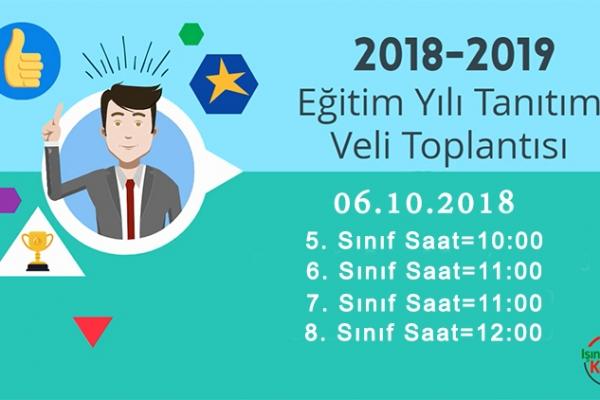 2018-2019 Eğitim-Öğretim Yılı Ortaokul Tanıtım Veli Toplantısı